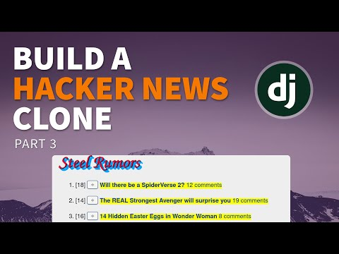 Building a social news site in Django - Part 3 (Screencast)