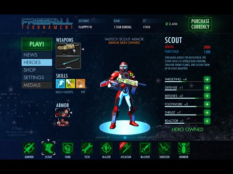 FreeFall Tournament Gameplay Scout