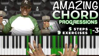 AMAZING Gospel Jazz Neo Soul Chord Progressions   5 Steps + 9 Exercises #OneMinusThree #1-3