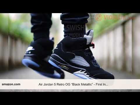 """19edfbb5db3 Nikes hoes-70%off- Air Jordan 5 Retro OG """"Black Metallic"""" - First In  Sneakers"""