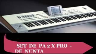 PA 2 X PRO KORG - SET  DE  NUNTA
