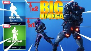FORTNITE BIG OMEGA DANCES *NEW* FANCY FEET & JOB WELL DONE EMOTES (custom skin)