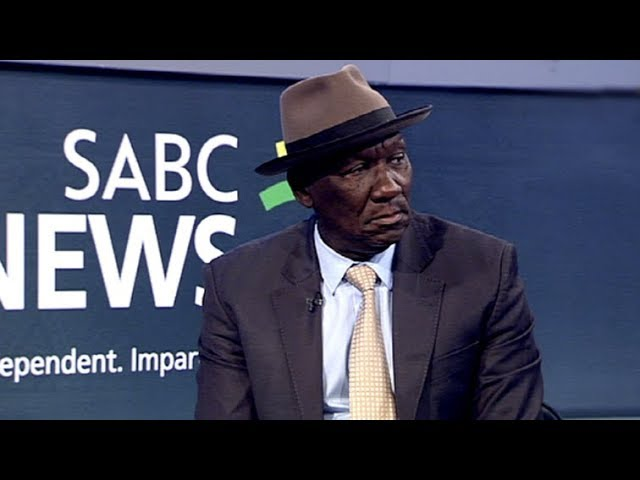 In conversation with Police Minister Bheki Cele.
