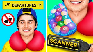 SMART HACKS TO SNEAK FOOD ANYWHERE YOU GO || Sneaky Food Hacks And Tricks By 123 GO Like!