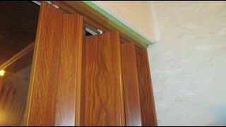 видео Складные межкомнатные двери