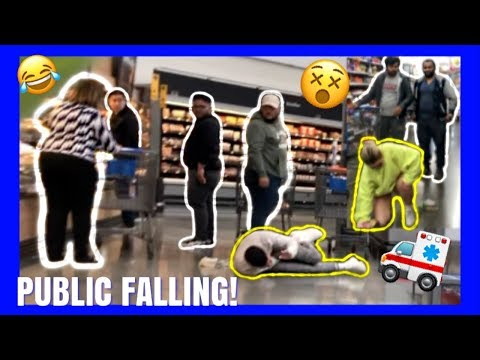 FAKE FALLING IN PUBLIC WITH MY GIRLFRIEND! *BADLY INJURED*