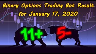Binary Options Bot Trading Report for January 17, 2020 (11+ 5-) | Trading Signals in Telegram