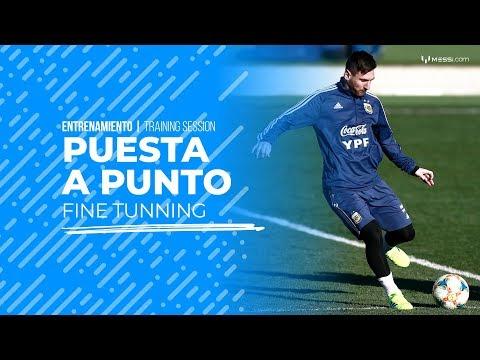 Messi continúa la preparación con la Argentina