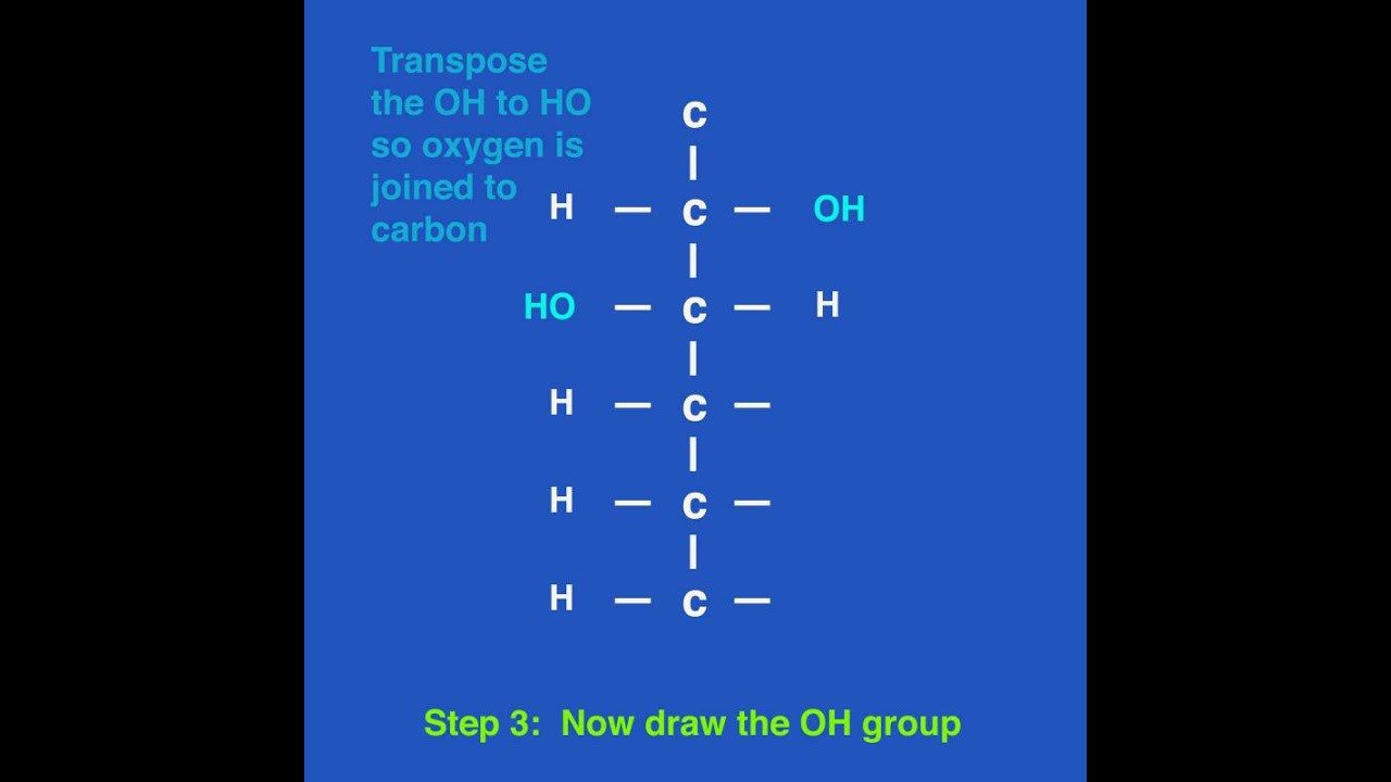 How to draw a stick diagram of a glucose molecule