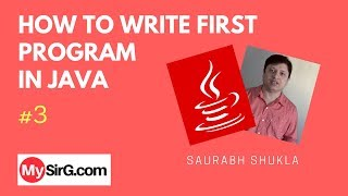 Lecture 3 First Program in Java Hindi