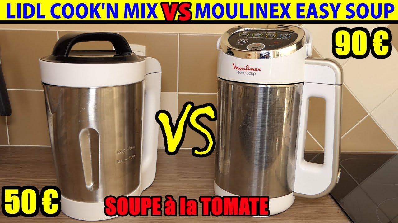 lidl blender chauffant cook n mix vs moulinex easy soup comparatif soupiere soupe tomate recette