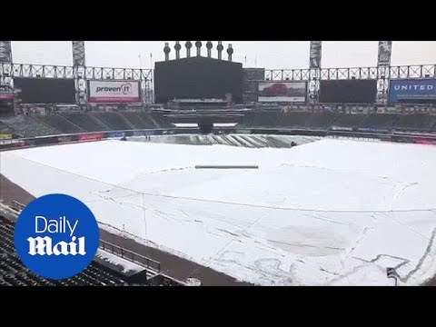 Chicago Cubs Baseball postpone home opener due to snow - Daily Mail