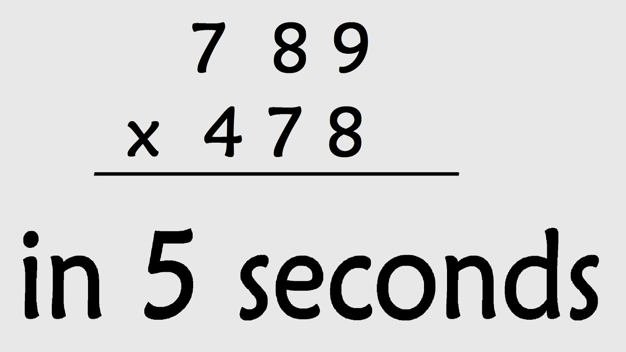 hight resolution of Maths Shortcut : 3 Digit Multiplication ( Secret maths tricks ) - YouTube