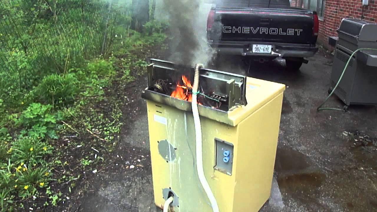 vintage maytag harvest gold washer variac overload fire