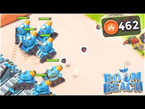 Boom Beach MAX RAIN MAKERS Vs Hammerman Base Builder Bases!