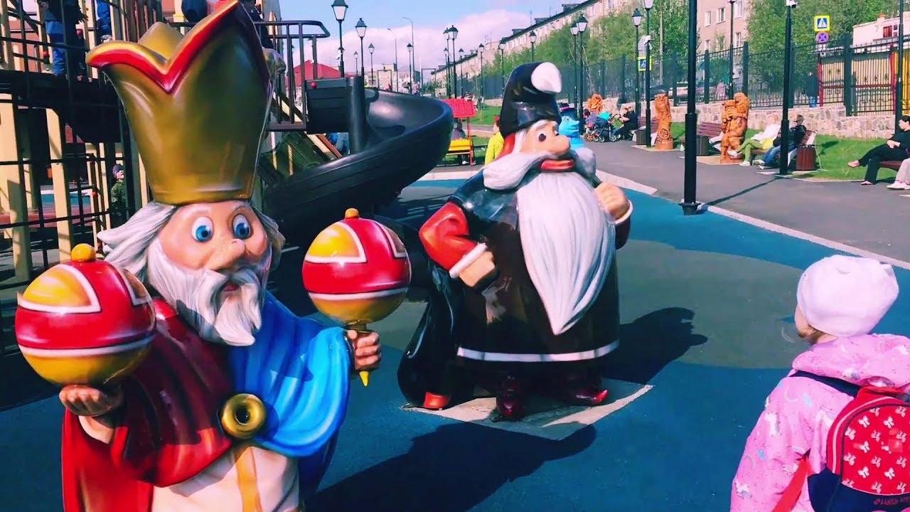 Видео для детей и малышей Игры в детском парке Герои ...