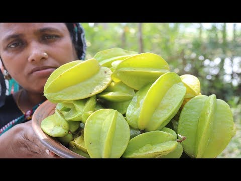 Village Food Carambola Recipe Delicious Kamranga Chutney Cooking Fresh Star Fruit Curry