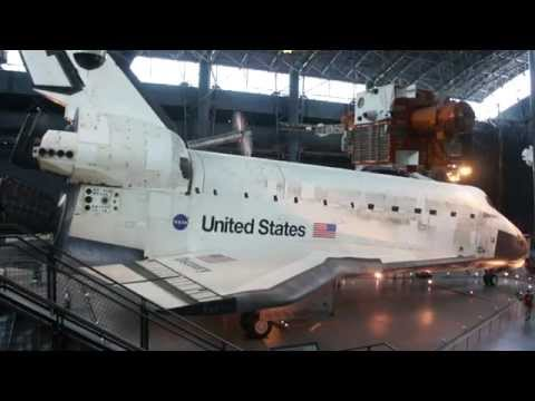 Space Shuttle Orbiter Discovery on display at the Smithsonian Steven F Udvar-Hazy Center