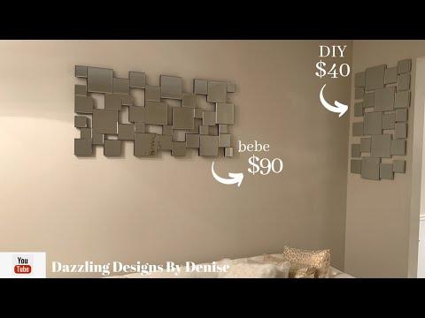 Designer Inspired DIY || Mirrored Wall Decor || by DDByD