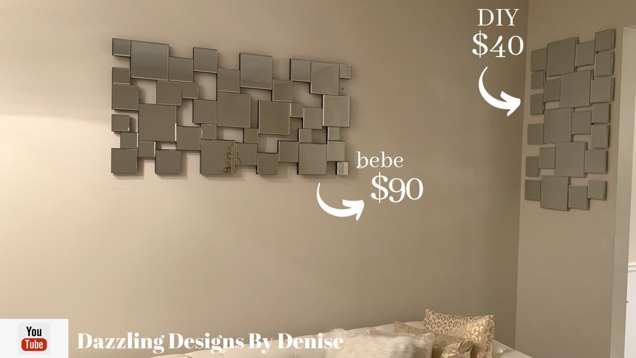Designer Inspired DIY || 💕Mirrored Wall Decor || by DDByD💕