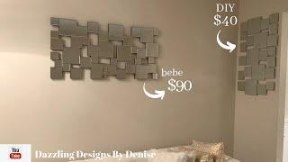 Designer Inspired DIY    💕Mirrored Wall Decor    by DDByD💕