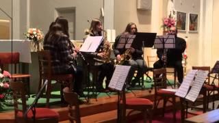 Menuet No 2 - Dechové kvinteto (Sanvito Sisters)