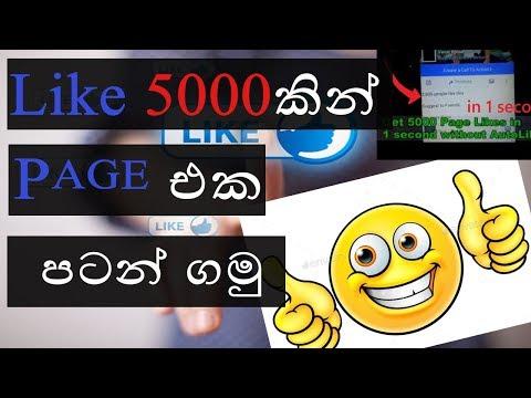Like 5000 ක් එක්කම අලුත් FB Page එකක් හදමු   Create Facebook Fan Page With 5000 Likes In 1 Minute