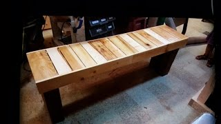 How To build a Pallet wood bench..subscribe for weekly videos. This week im building a bench using 2 pallets. this build design...