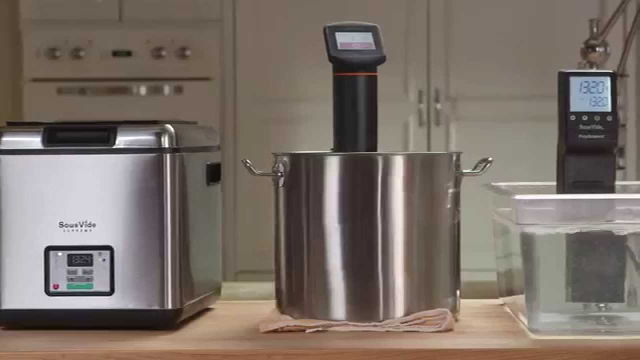 compare sousvide supreme water ovens vs immersion circulators youtube