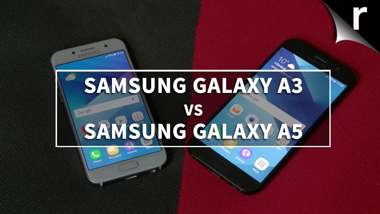 samsung galaxy a3 2017 vs samsung galaxy a5 2017 youtube. Black Bedroom Furniture Sets. Home Design Ideas