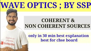 4.Coherent & noncoherent sources of light wave |constructive & destructive interference |wave optics thumbnail