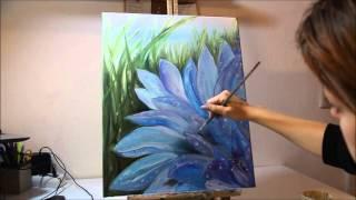 Анонс видеоурока ''Цветы в траве''. Масляная живопись