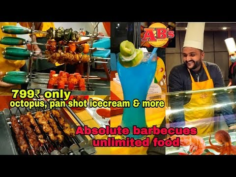 Absolute Barbecues Unlimited Buffet In Just 799₹ || Best Seafood Buffet Restaurant ||