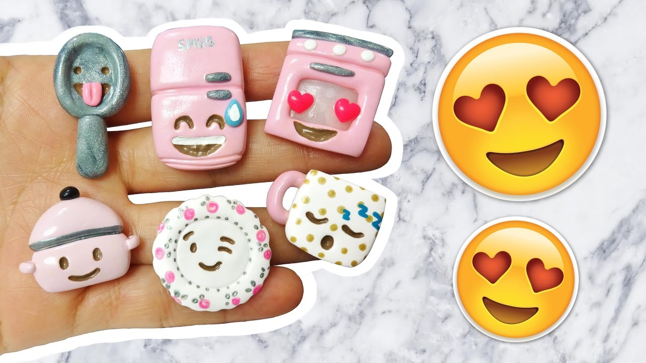 Diy Emoji Kitchen Polymer Clay Tutorial