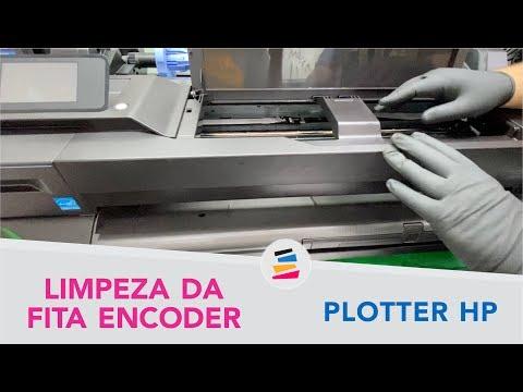 Limpeza da Fita Encoder nas Plotter HP T120 T130 T520 T530 e Similares