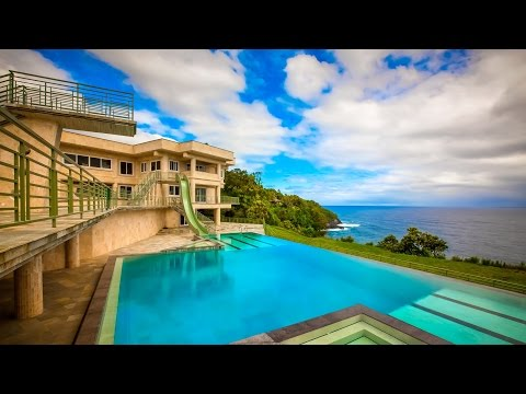 Magnificent Oceanfront Modern Luxury Residence in Big Island of Hawaii