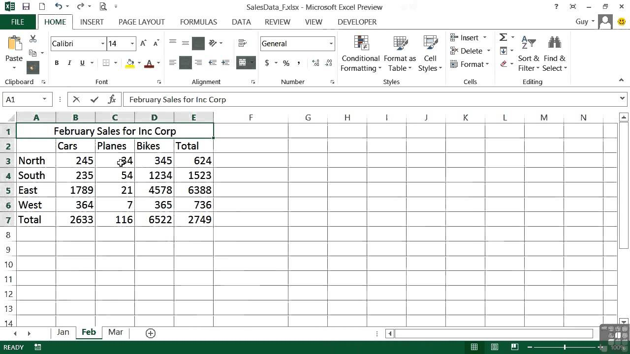 Microsoft Excel 2013 Tutorial The Format Painter Youtube