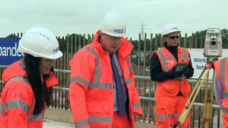 video: Boris Johnson insists HS2 will be 'crucial' for decades to come as he marks the start of construction