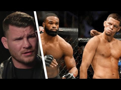 "Thumbnail: MICHAEL BISPING TRASHES NATE DIAZ ""NATE COULD NEVER BEAT WOODLEY EVEN IF HAD A 10 YEAR FIGHT CAMP"""