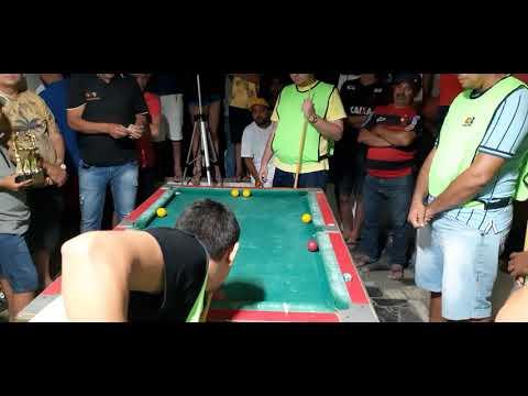 Lorin de Fortaleza x GG de Itapipoca Final do torneio de Sinuca em Meruoca-Ce