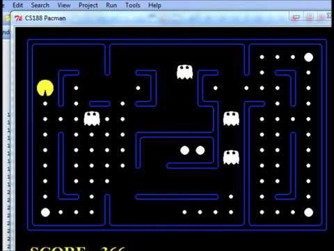 Artificial intelligent Pacman min-max algorithm & q-learning algorithm  demonstration(Short version)