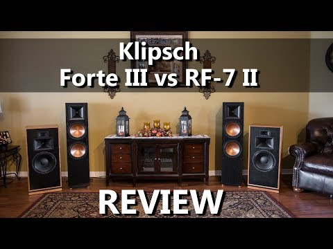 Klipsch Forte III vs RF 7 II Speaker Review