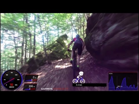 Mountain Bike Homburg Single Trail Training 60 Minute Garmin Virb HD