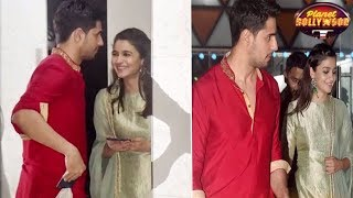 Alia - Sidharth Put All Break-up Rumors To Rest At Ekta's Diwali Bash? | Bollywood News