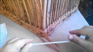 Плетение большого сундука из газетных трубочек. Урок 5. Стенки сундука