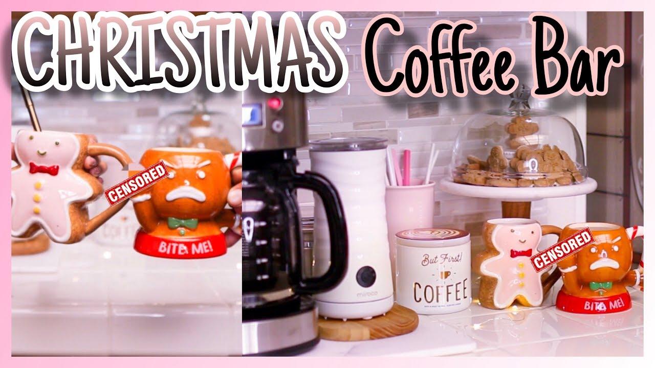 Utube 2021 Christmas Coffee Cicoa Bar Christmas Coffee Bar Gingerbread Theme Christmas Coffee Bar Ideas Holiday Coffee Bar 2019 Youtube