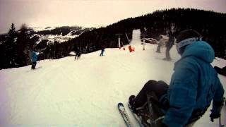 GO Pro uni ski et sit ski handiski