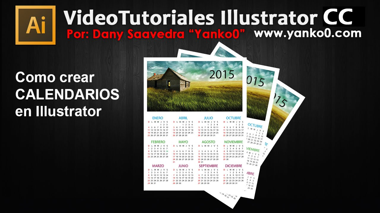 Como crear calendarios en illustrator - YouTube