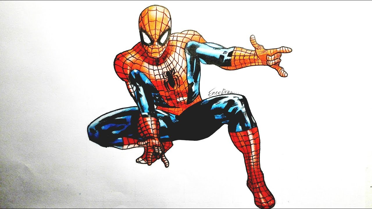 Comment dessiner spiderman tutoriel youtube - Spider man en dessin ...