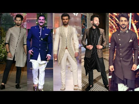 Latest Men's Indo Western Kurta Outfits For Wedding Receptio